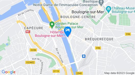 ibis Boulogne sur Mer Centre Les Ports Map