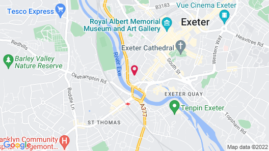 Holiday Inn Express Exeter - City Centre Map