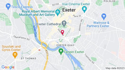 White Hart, Exeter by Marston's Inns Map