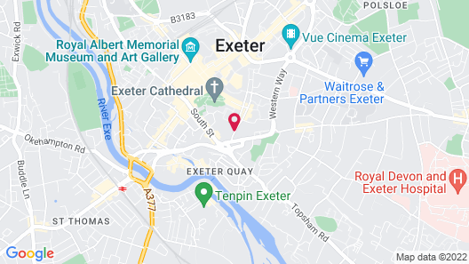 Mercure Exeter Southgate Hotel Map