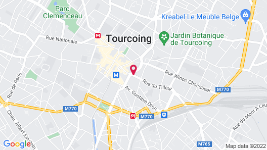 B&B Hotel Lille Tourcoing Centre Map