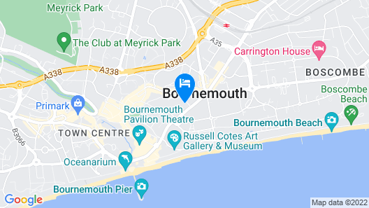 Holiday Inn Bournemouth Map