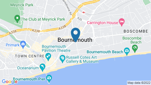 Roundhouse Hotel Bournemouth Map