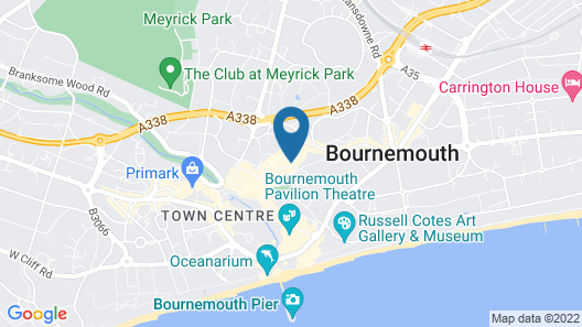 Prime Backpackers Bournemouth Map
