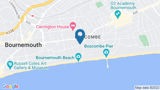 Bournemouth Pethouse 300 Yrds to Boscombe Beach - Best Sandy Beach in UK Map
