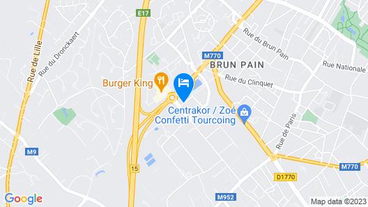 Comfort Hotel Garden Lille Tourcoing Map