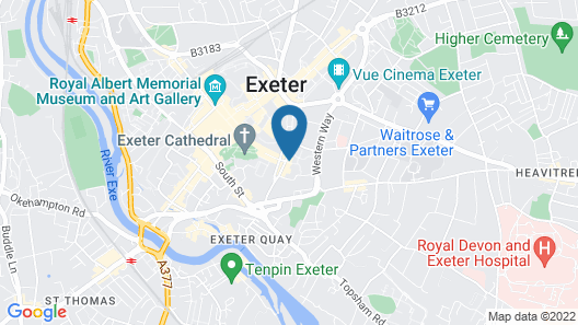 Southernhay House Hotel Map