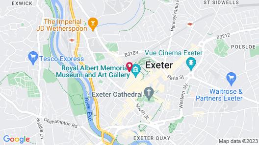 Mercure Exeter Rougemont Hotel Map