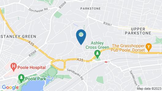 Twin Palms - Poole Dorset Map