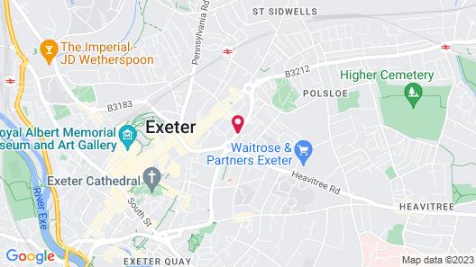 Jurys Inn Exeter Map
