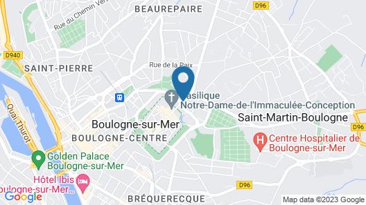 Ibis Styles Boulogne Centre Cathédrale Map