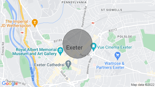 Modern Quirky Exeter City Cottage Map
