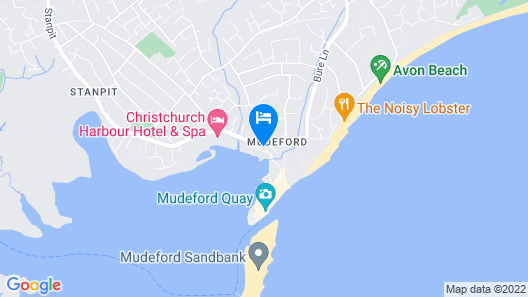 Christchurch, Mudeford. 2/3 Bedroomed Apartment Close to Mudeford Quay Map