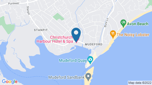 The Christchurch Harbour Hotel And Spa Map