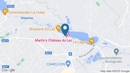 Martin's Château du Lac Map