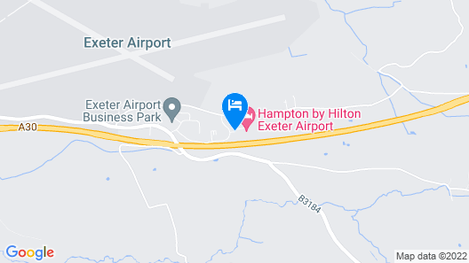 Hampton by Hilton Exeter Airport Map