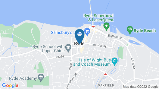 Travelodge Ryde Isle of Wight Map