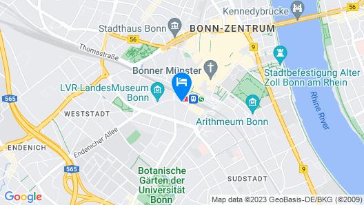 IntercityHotel Bonn Map