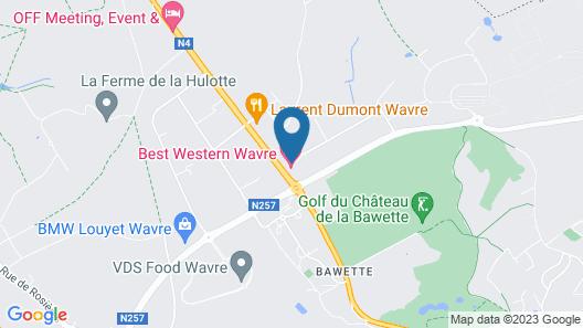 Best Western Hotel Wavre Map