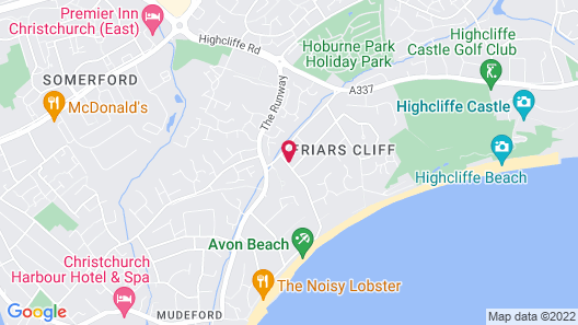 Avon Beach Bed and Breakfast Map