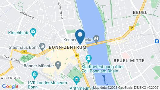 Hilton Bonn Map