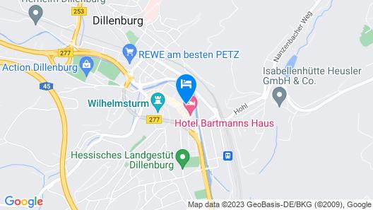 Hotel Dillenburg Map