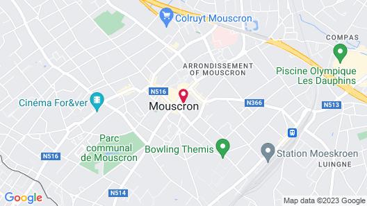 Hotel Alize Mouscron Map