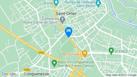 ibis budget Saint-Omer Centre Map