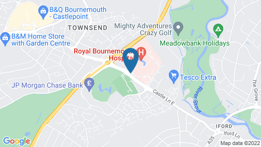 Village Hotel Bournemouth Map