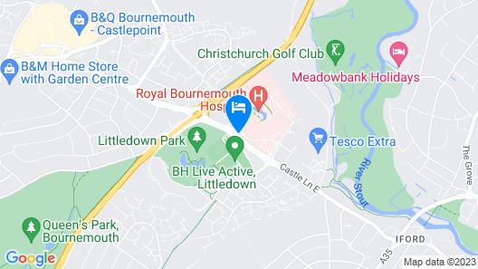 Village Hotel Bournemouth Map
