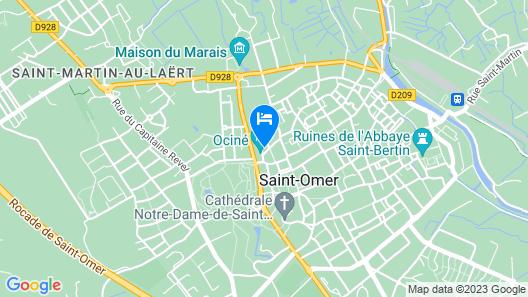 Apartment hyper center of Saint Omer Map