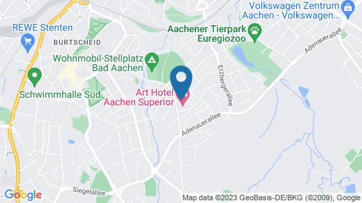 Art Hotel Aachen Superior Map