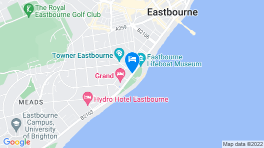 Citrus Hotel Eastbourne by Compass Hospitality Map