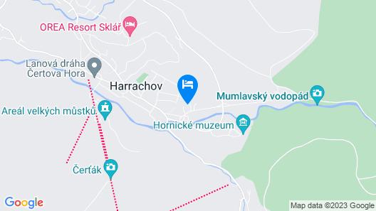 PENSION HARRACHOV Map