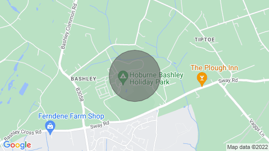New Forest,  2 bed, modern home, pools, golf, & lots more in 5* Hoburne Bashley Map