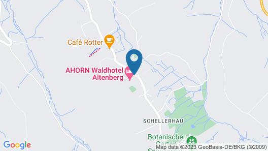 AHORN Waldhotel Altenberg Map