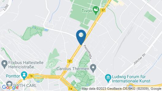 Platinium Hotel Aachen Map