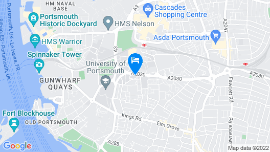 ibis Portsmouth Centre Map