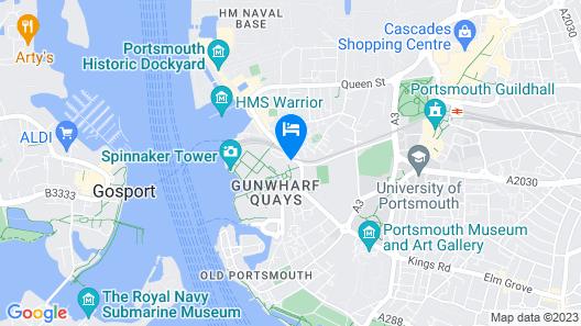 Holiday Inn Express Portsmouth - Gunwharf Quays, an IHG Hotel Map