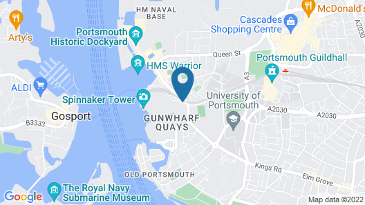 Holiday Inn Express Portsmouth - Gunwharf Quays Map