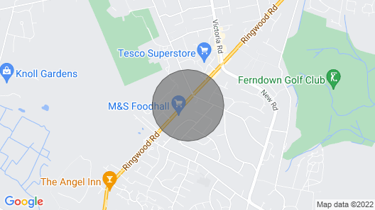 Ferndown Holiday Let Map