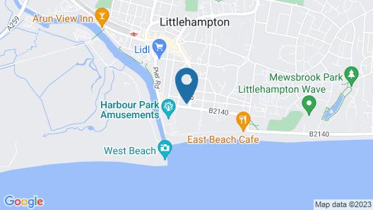 East Beach Guest House  Map