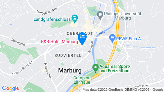 B&B Hotel Marburg Map