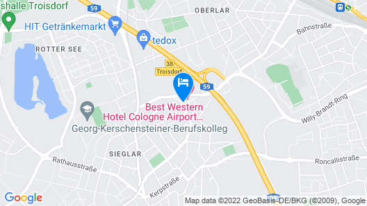 Best Western Hotel Cologne Airport Troisdorf Map