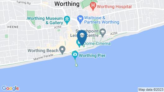 Chatsworth Hotel - Worthing Map