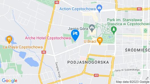 Hotel Arche Częstochowa Map