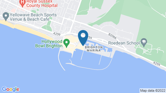 Malmaison Brighton Map