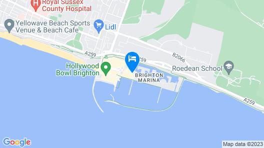 Malmaison Brighton Map