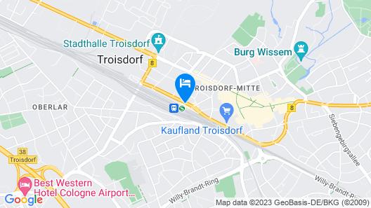B&B Hotel Köln-Troisdorf Map