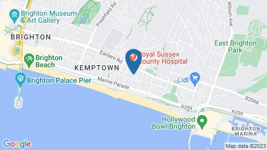 Trendy Studio Flat in Kemptown Village Map